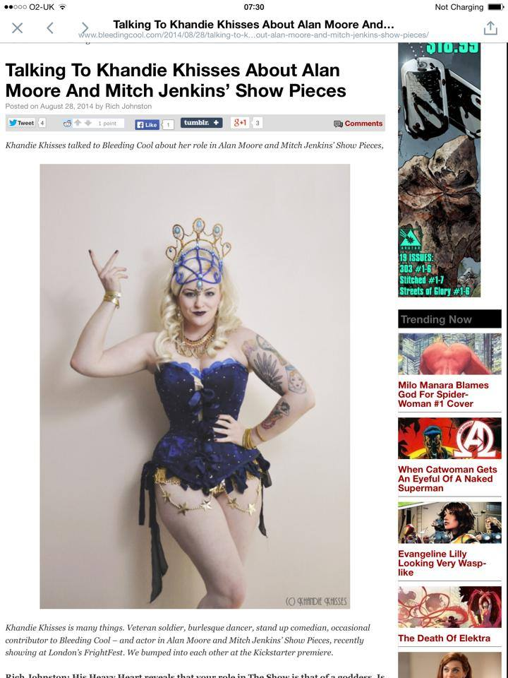 Burlesque portrait used in BleedingCool.com