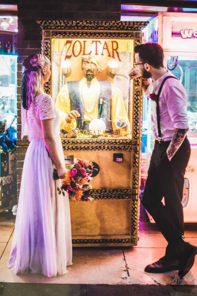 elopement, wedding, alt, photographer, tattooed, inked, model, bride, groom, night, bokeh, khandie, photographer, photography,